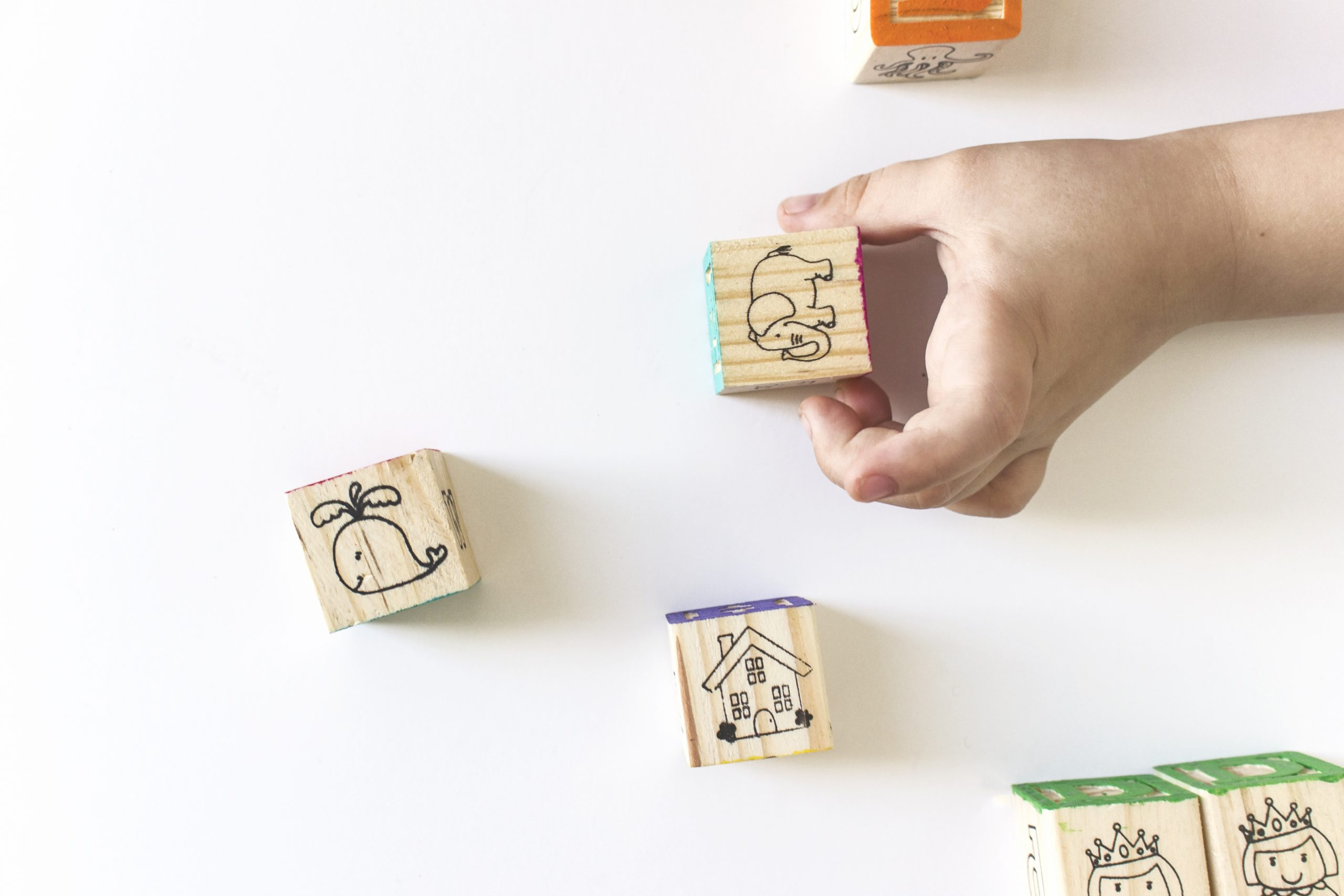 children's blocks with elephant