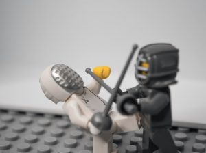 Two Plastic characters fighting
