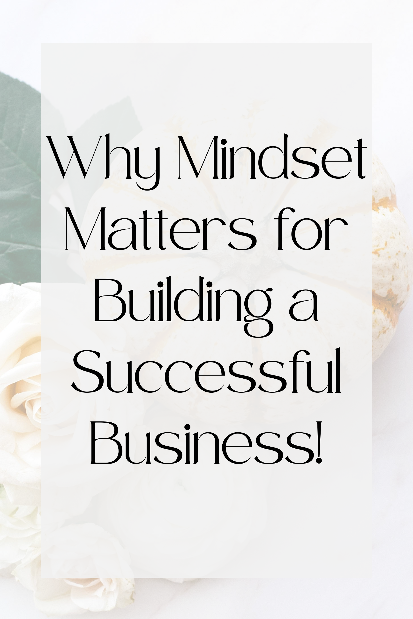 Why Mindset Matters for building a Successful Business